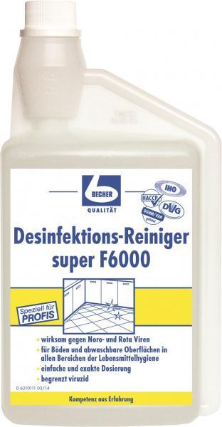 dr becher desinfektions reiniger super f6000. Black Bedroom Furniture Sets. Home Design Ideas